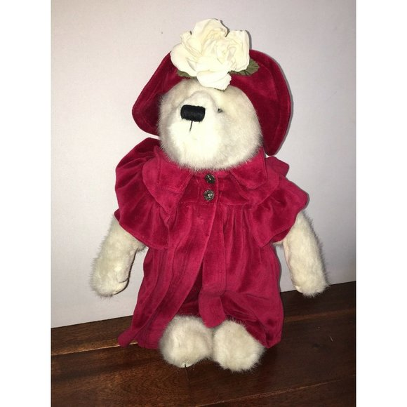 Retired Boyds Bear Red Dress and Red Hat